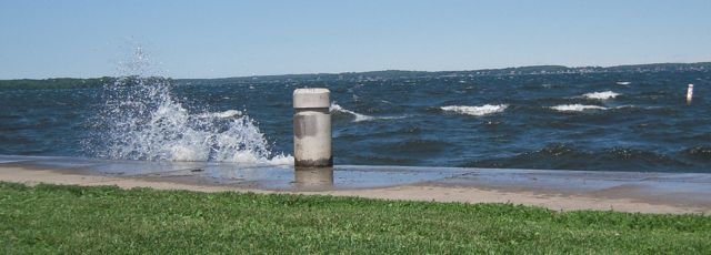 [Breakers are not normal lake behavior!]